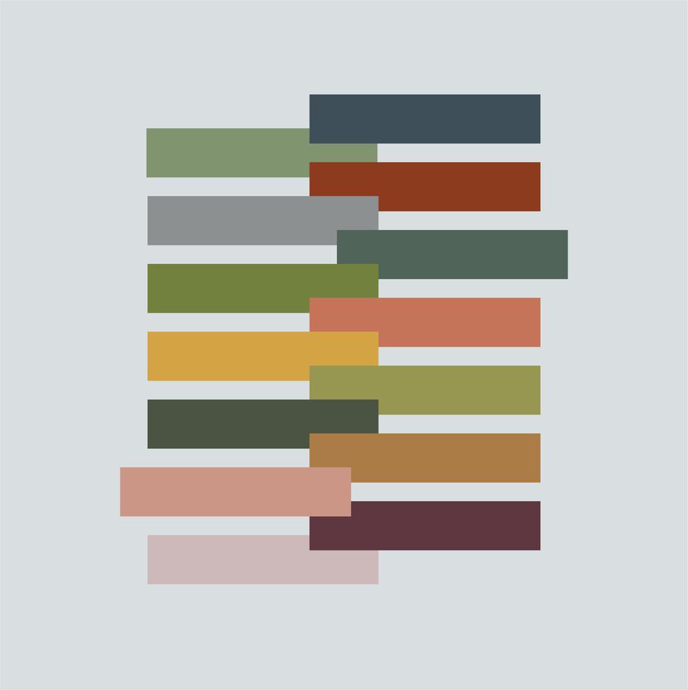 Original colors surveyed for branding process.