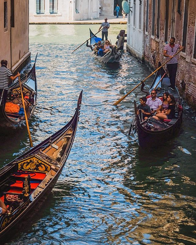 #Gondola traffic jam...one more from #Venice because...it's VENICE! (...and let's face it, there will be many more!).