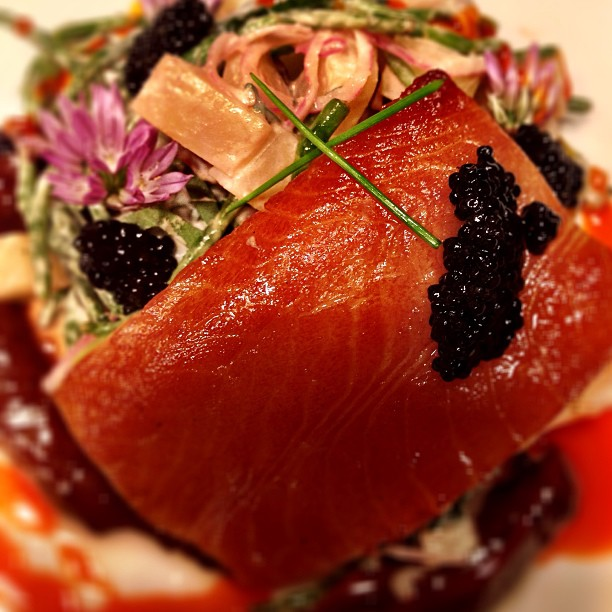 Smoked Sable Fish with Seabean Potato Salad &Caviar