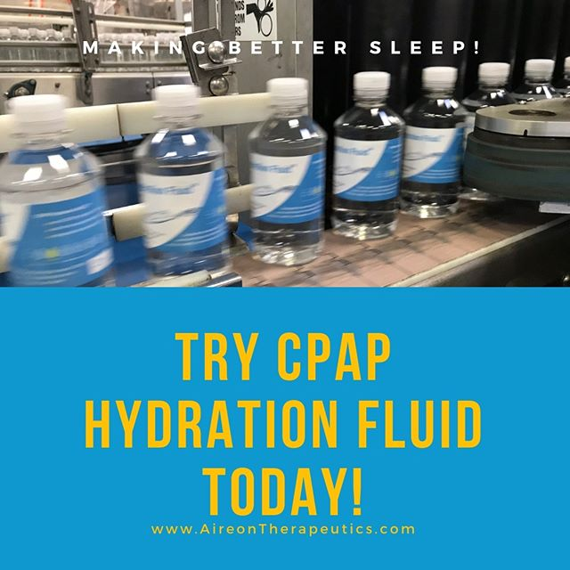 Have you tried CPAP Hydration Fluid?  Grab it while you can!  We'll be manufacturing more soon.  #CPAP #CPAPmachine #sleepapnea #aireontherapeutics #cpaphydration #cpaphydrationfluid #cpapwater #obstructivesleepapnea #cpapsafety #cpapproud
