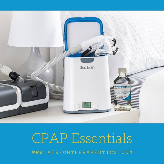 The perfect duo for keeping your CPAP device clean and free of bacteria, molds and fungus.  CPAP Hydration Fluid and SoClean, the two CPAP essentials!  #CPAP #CPAPmachine #sleepapnea #aireontherapeutics #cpaphydration #cpaphydrationfluid #cpapwater #obstructivesleepapnea #cpapsafety #cpapproud