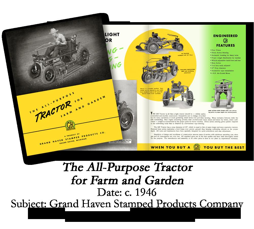 1946 Grand Haven Garden Tractor Brochure