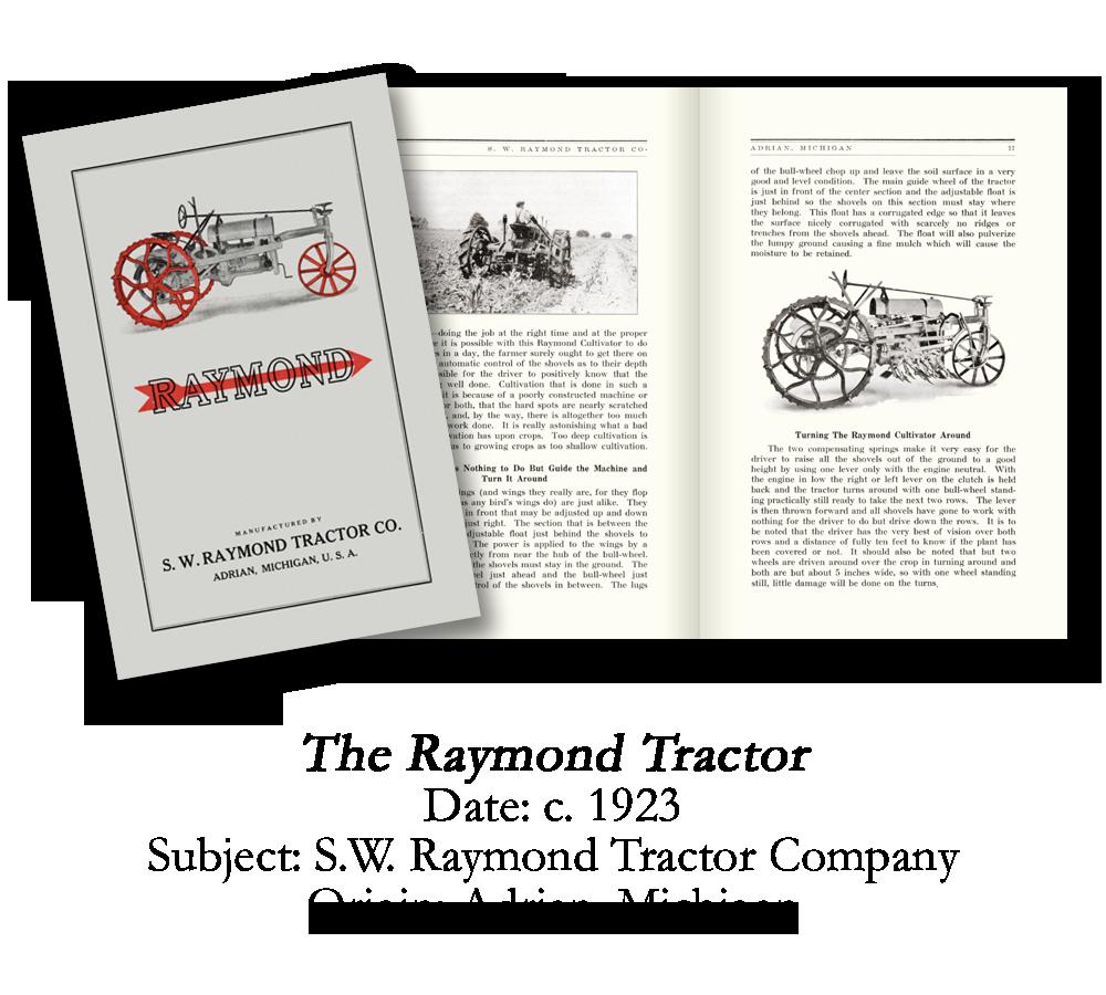 1923 Raymond Farm Tractor Catalog