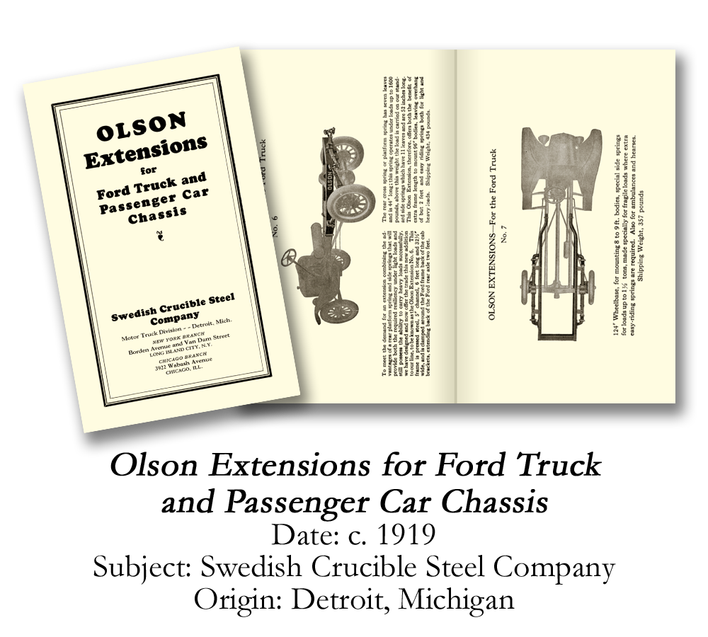 1919 Olson Extensions for Ford Truck
