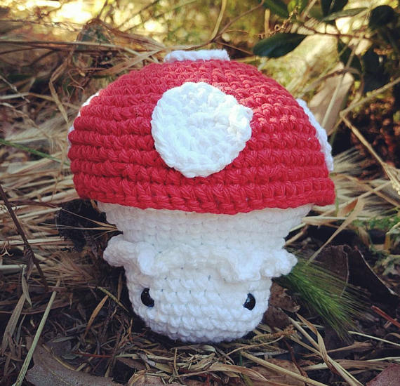 Crocheted Toadstool