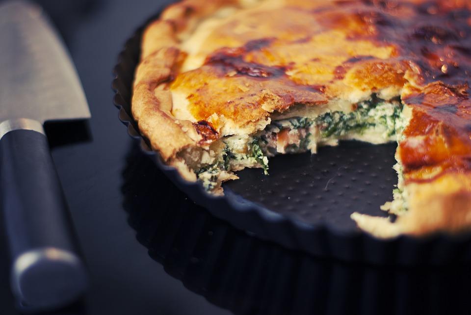 spinattærte med insektmel