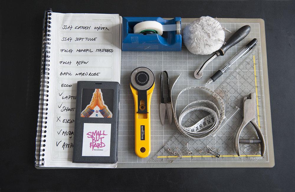 The tools of   Murrielle SCHERRE