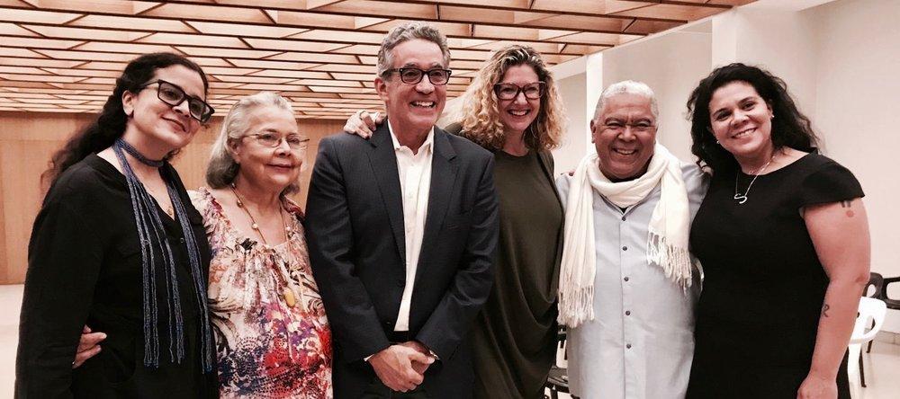 Sol. Patricia, Bebe, Danny, Braulio, Sabina. Fundación Luis Muñoz Marín. 30 de enero 2019.