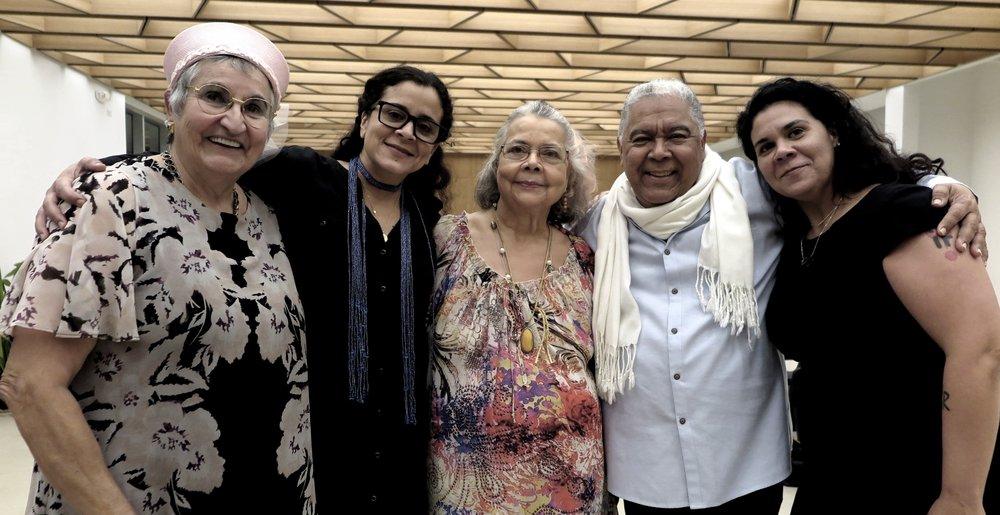 Bucha, Sol, Bebe, Danny, Sabina. Fundación Luis Muñoz Marín. 30 de enero de 2019.