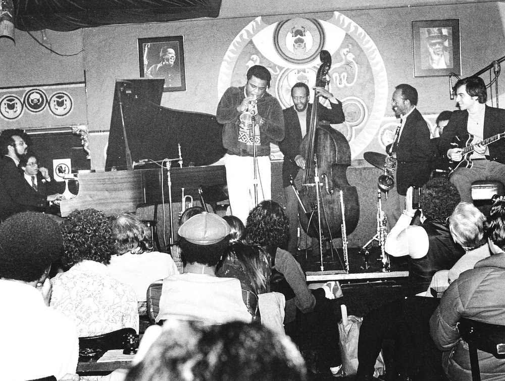 L to R; Stanley Cowell, Freddie Hubbard, Percy Heath, Jimmy Heath, Keith Copeland (partially hidden), Tony Purrone