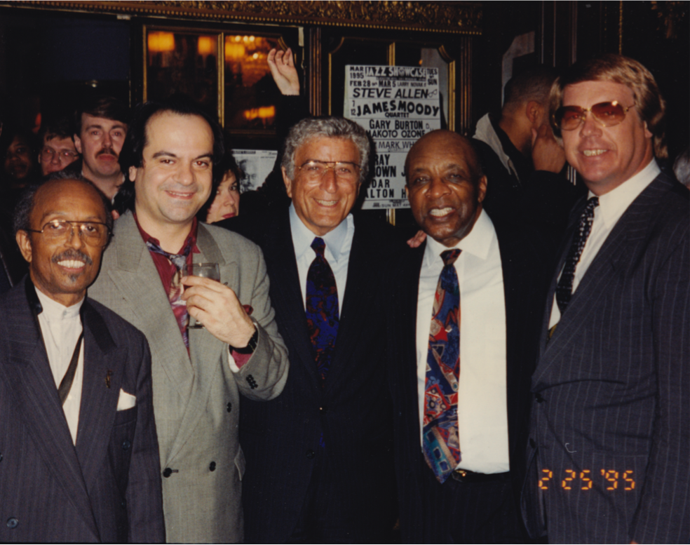 L to R; Jimmy Heath, Tony Purrone, Tony Bennett, Ed Thigpen, Unknown