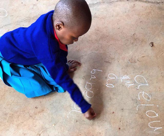 Our angel, Heavenlight, working on her Kiswahili. ✨ . . . #smartandstrong #rise #risetochange #educationmatters #tobeeducated #tobeseen #tobeloved #kuandika #towrite