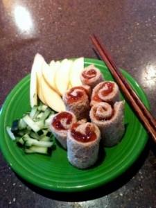 ms mod girl Jodi C pbj sushi roll