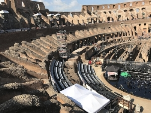 Colosseum stage set for Bocelli concert