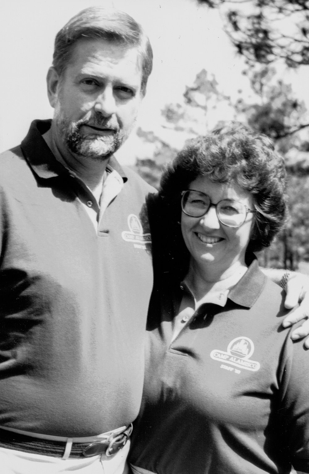 Bill and Janet Wood, former youth director of the Atlantic Union, pose for their 1993 Camp Alamisco staff photo.