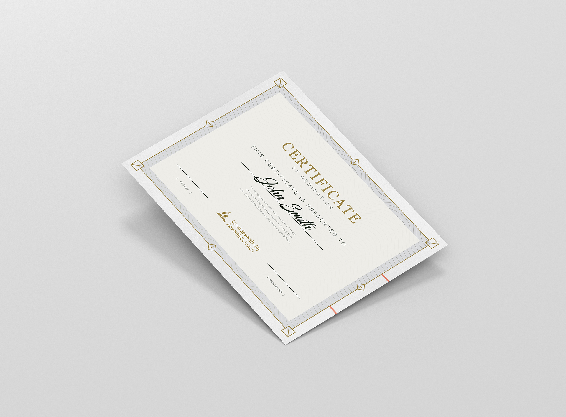picture relating to Printable Ordination Certificate titled Printable Elder Deacon Ordination Certification Gulf