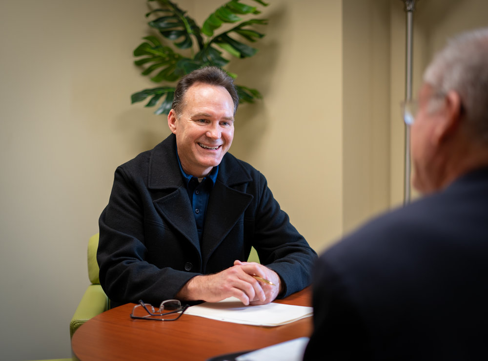 Brian Danese, VP of Church Development, meets with a pastor to discuss their quarterly plans.