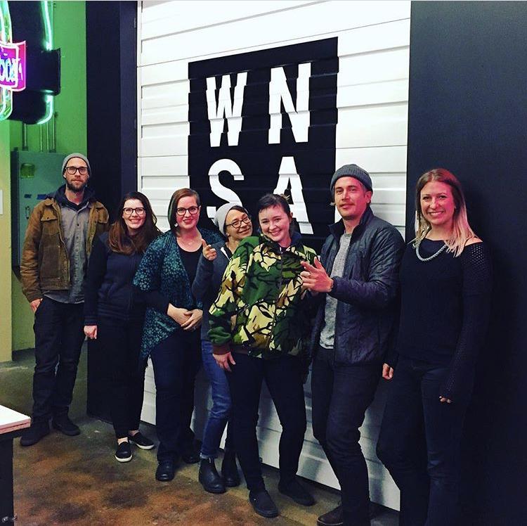 WNSA's first graduating class in Winter 2018. Image  ©  2018 Western Neon School of Art.
