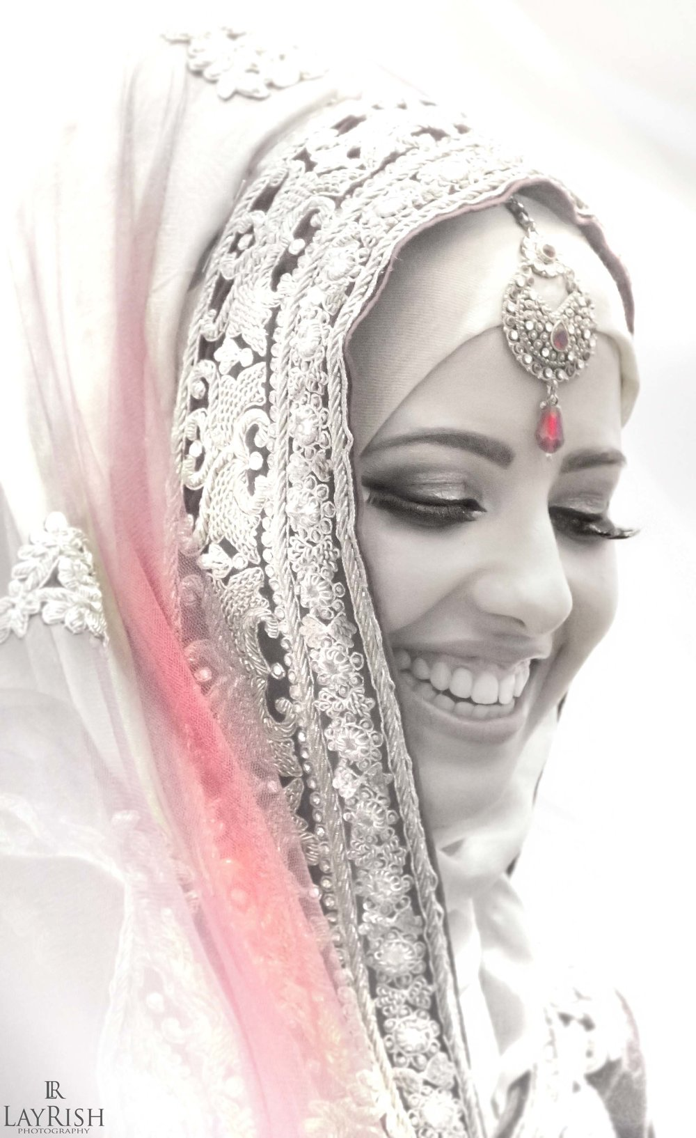 Beautiful shot of bride before wedding
