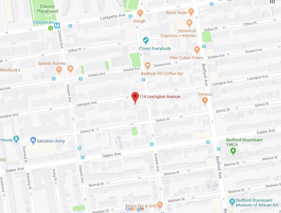 Google map of114 Lex Brooklyn.JPG