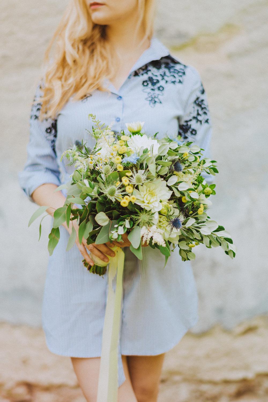 wedding bouquet dahlia