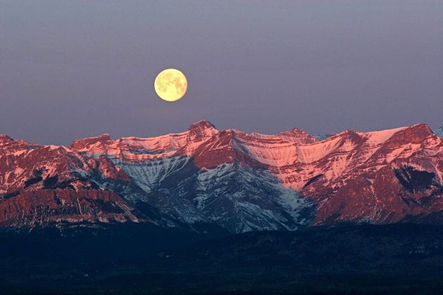 A mountain moonrise to celebrate #NationalMoonDay 📷: Michael Interisano