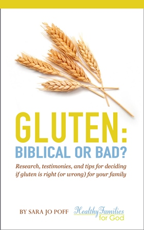 Gluten: Biblical or Bad; Research, testimonies, and tips for deciding if gluten is right (or wrong) for your family by Sara Jo Poff