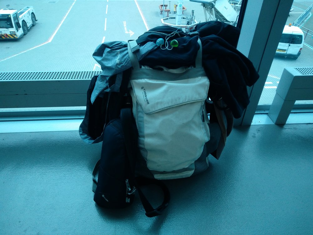 Trusty Carry-On and Day Pack.