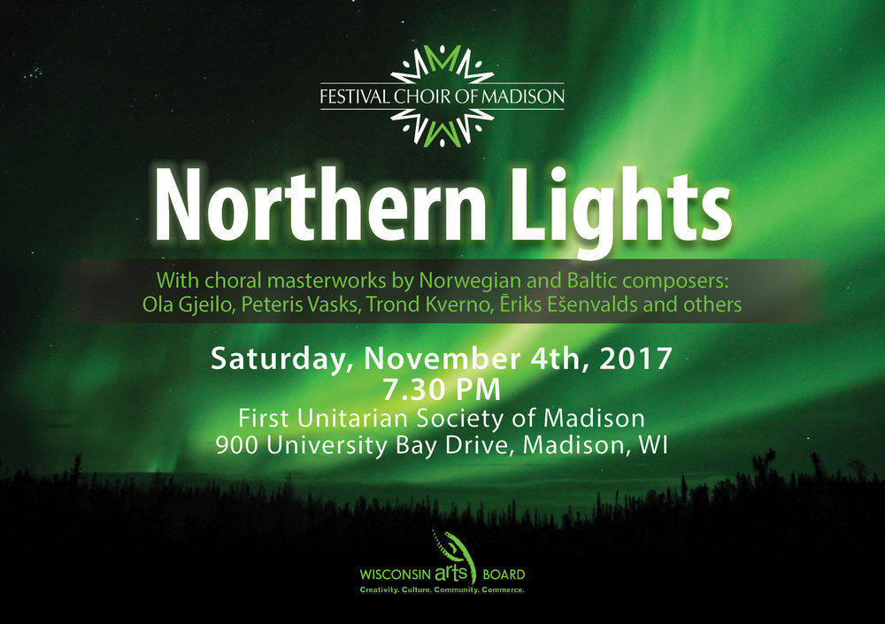 The Northern Lights concert flyer. The concert program itself will be uploaded shortly!