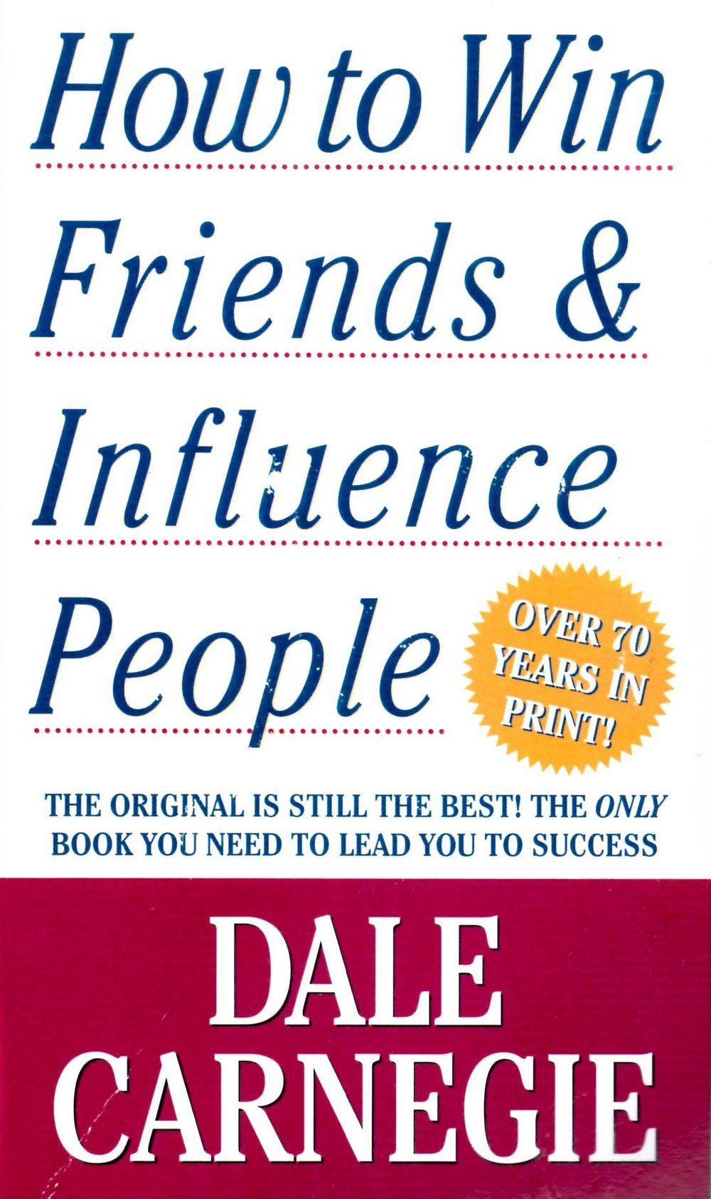 """"""" How to Win Friends And Influence People """" by  Murhpy Chen , used under  CC BY 2.0  / cropped from original"""