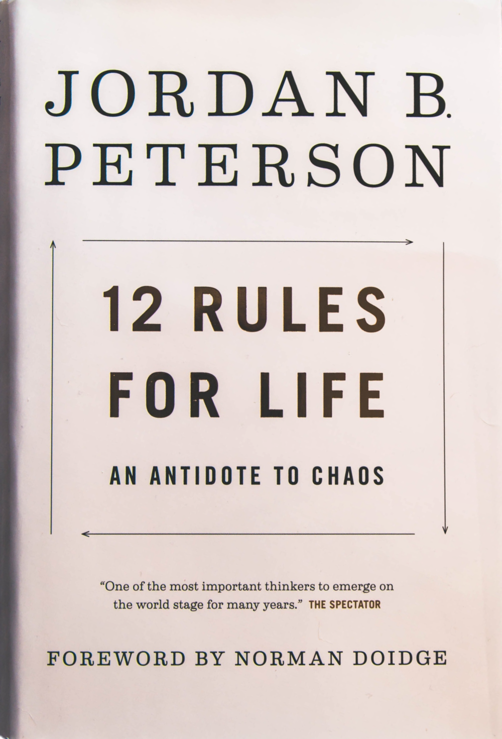 12 rules for life jordan b peterson book brown textile by Travis Rupert / cropped from original