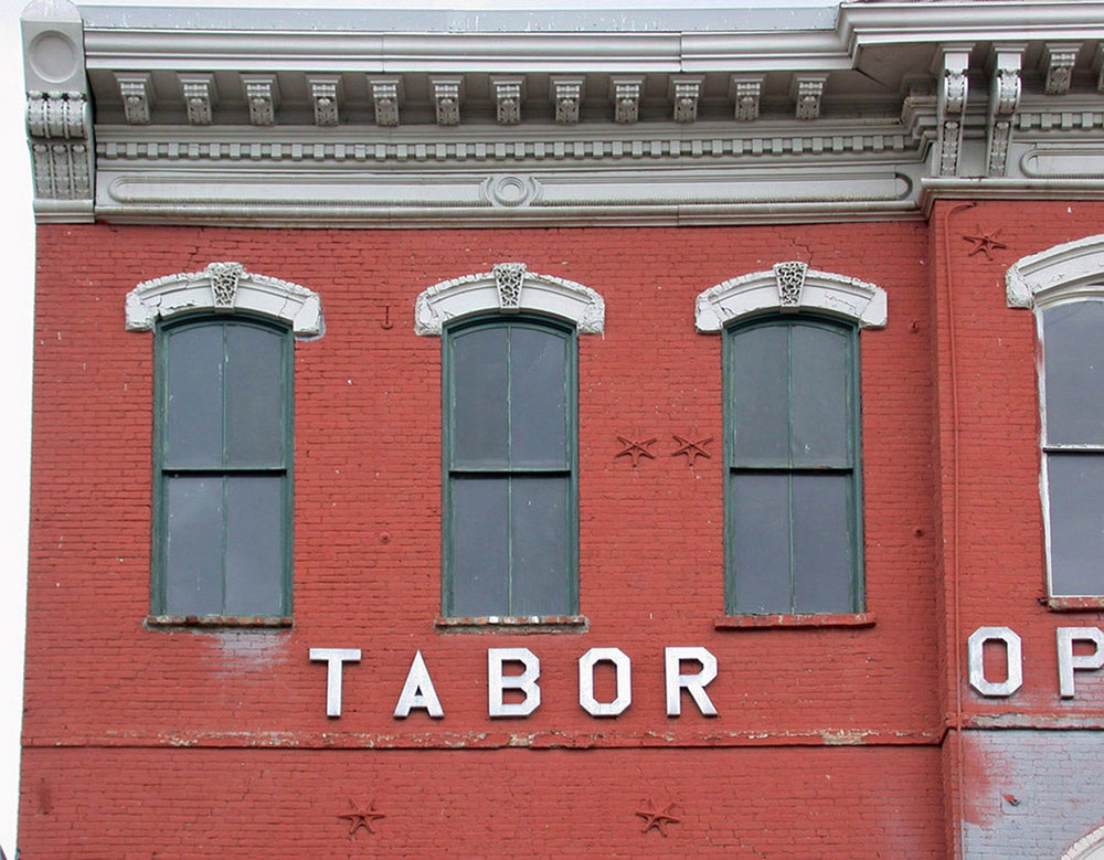 Tabor Opera House top floor windows recent.jpg
