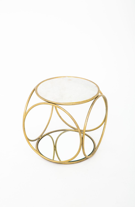 Brass Mirror Table