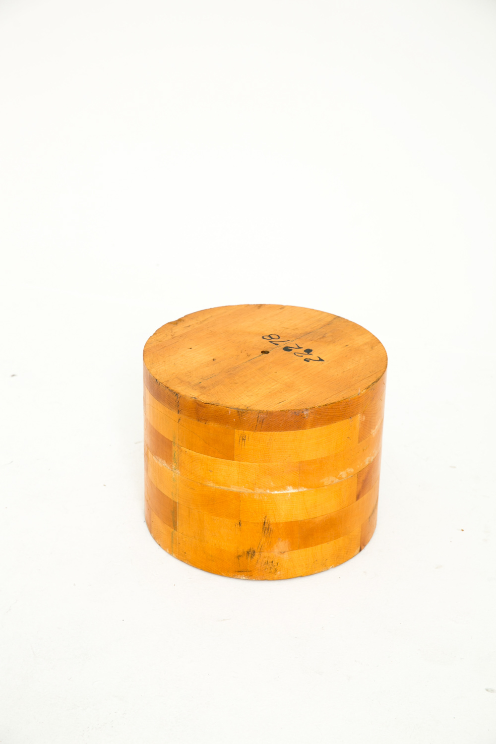Short Cylinder End Table