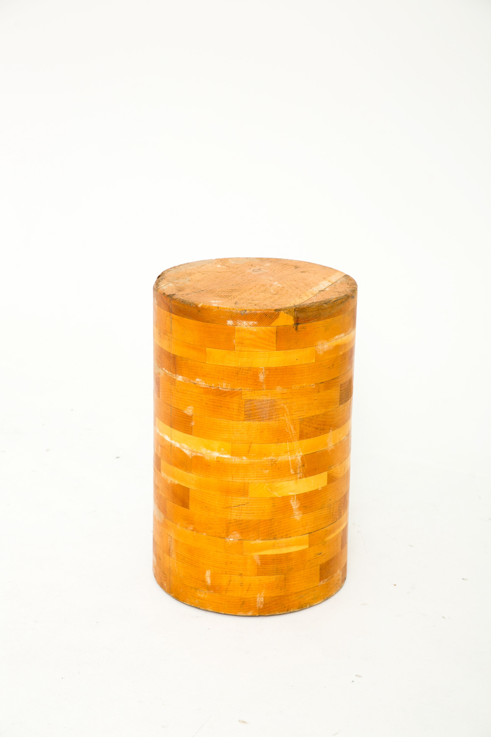 Tall Cylinder End Table