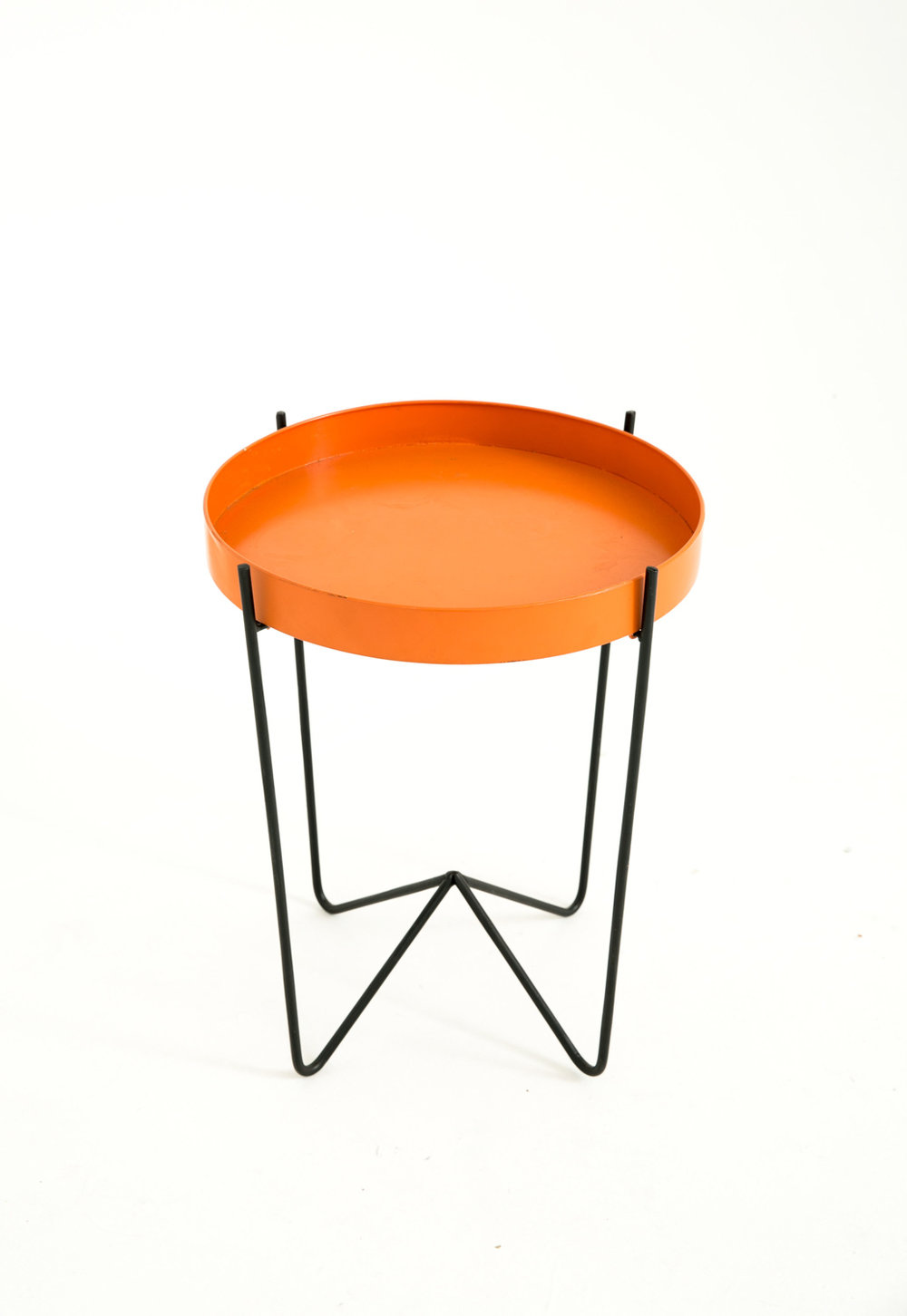 Orange Side Table