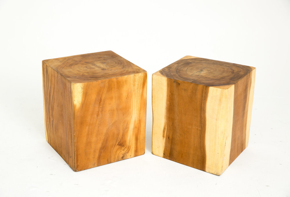 Walnut Cube Coffee Tables