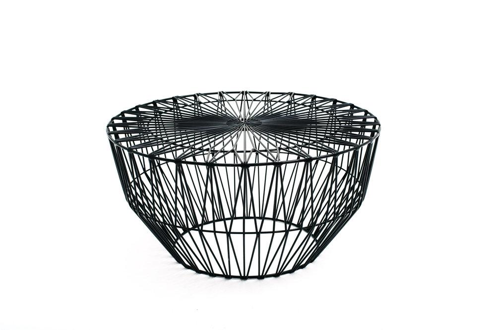Bend Wire Ottoman - Black