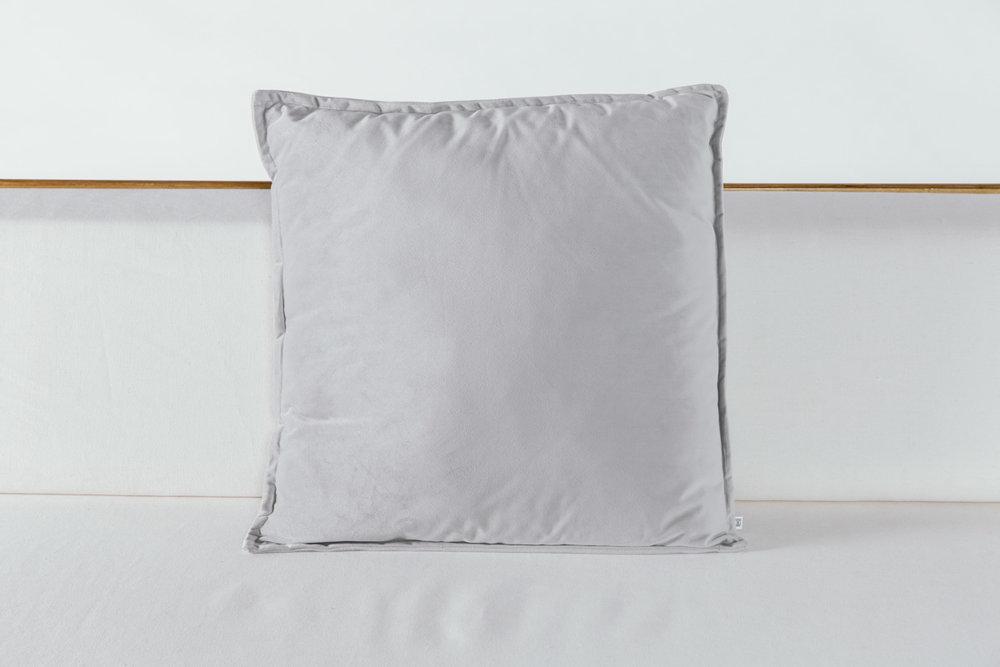Silver Velvet Pillow
