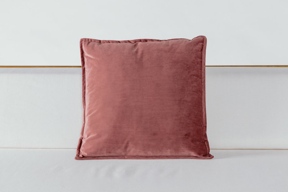 Mauve Velvet Pillow