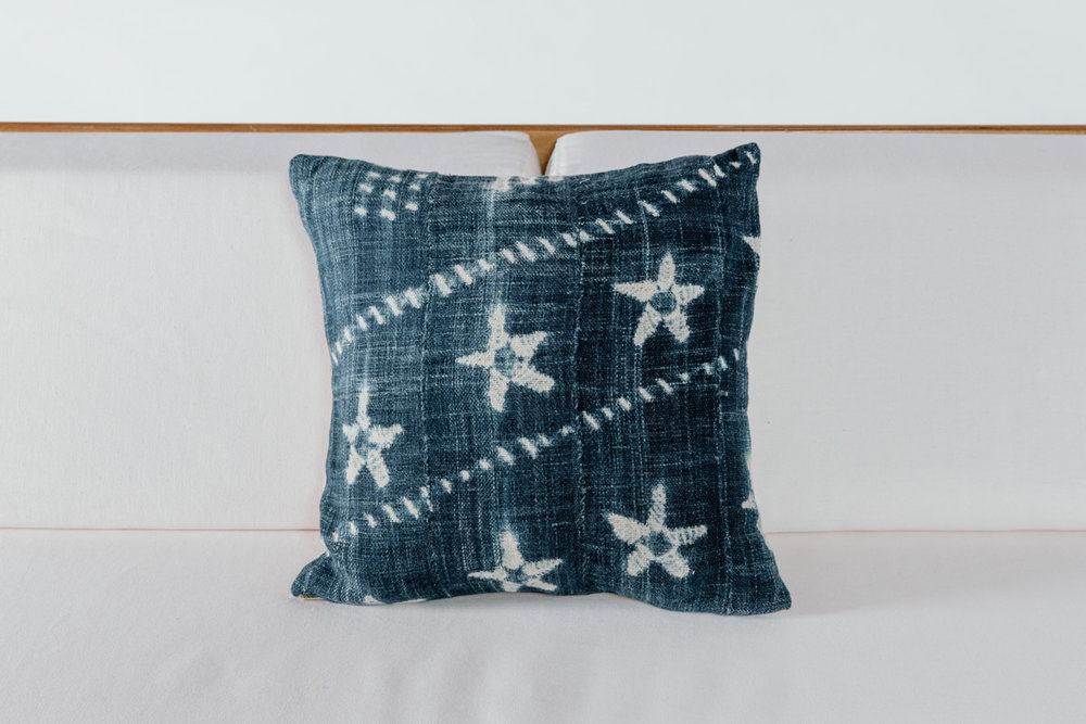 Starfish Shibori Pillow