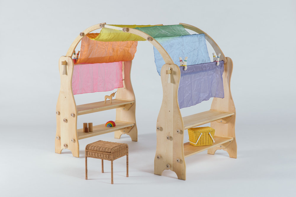 Copy of Wooden Playarch w/ Silks and Clips