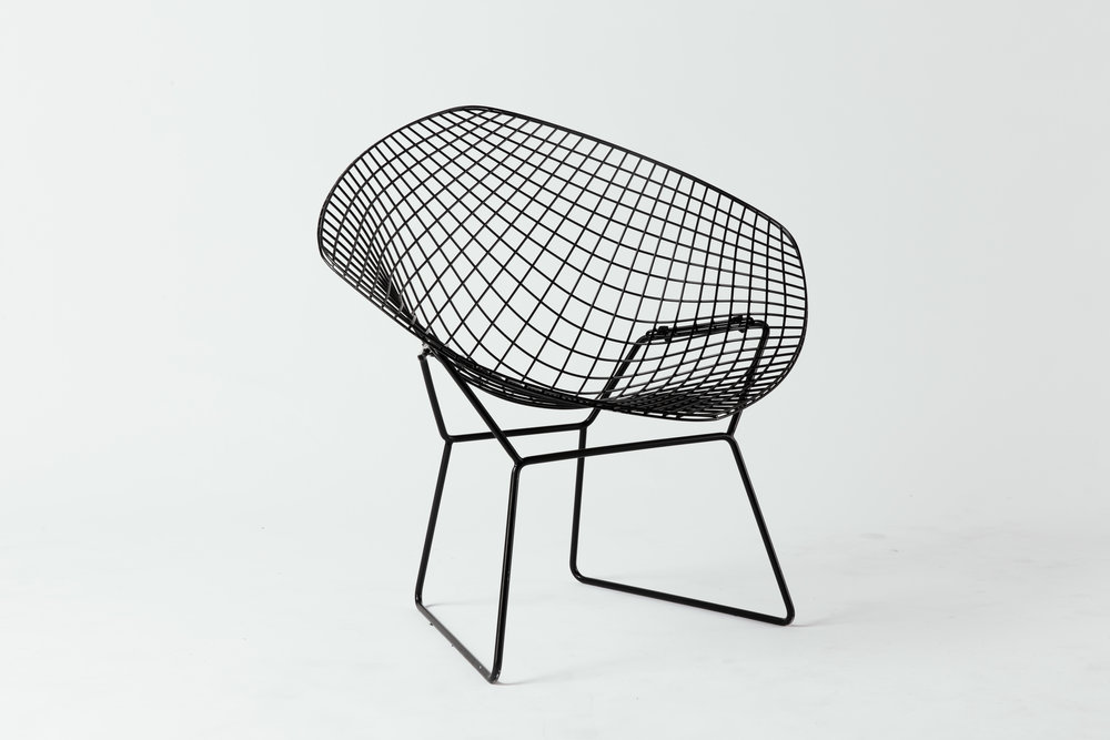 Knoll Bertoia Diamond Black on Black