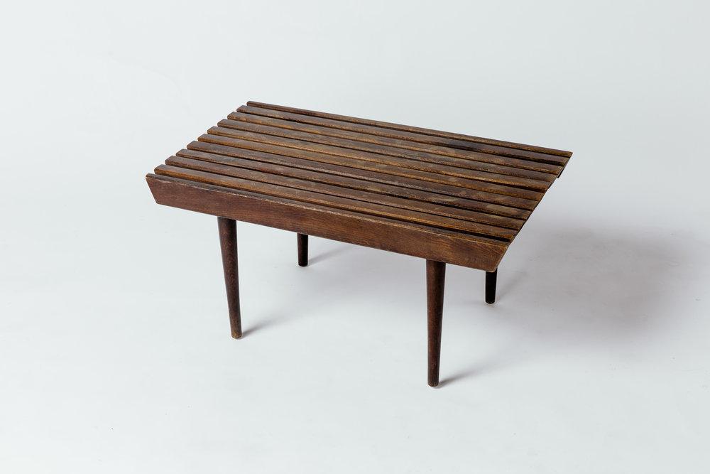 Slatted Side Table