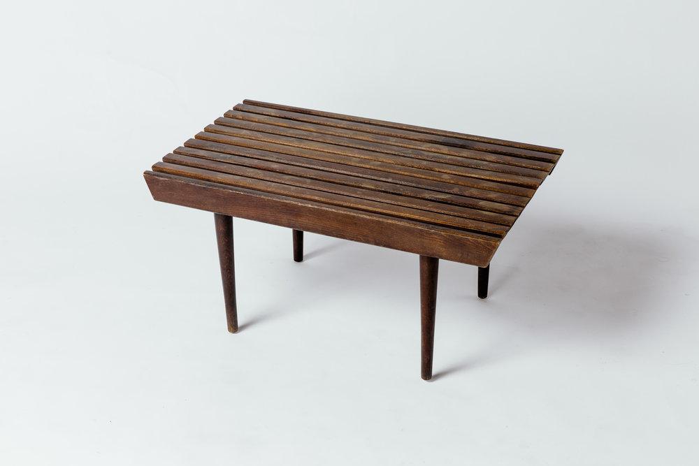 Slatted Side Table