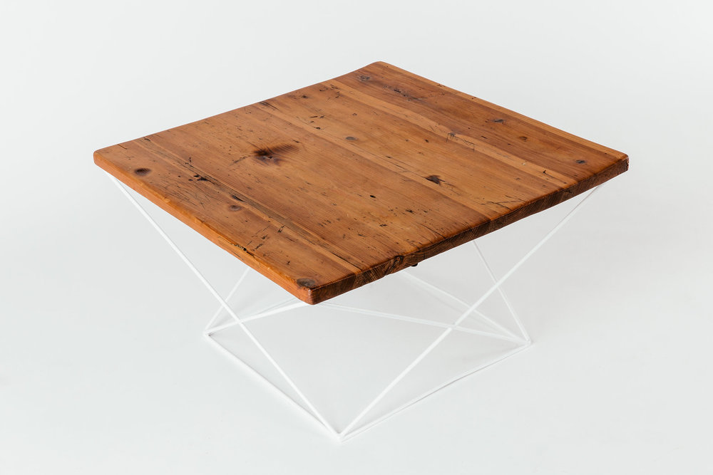 Geometric Table White