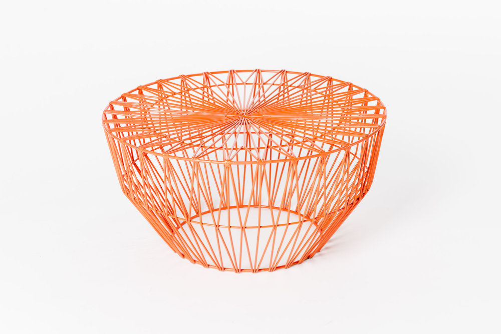 Bend Wire Ottoman - Orange