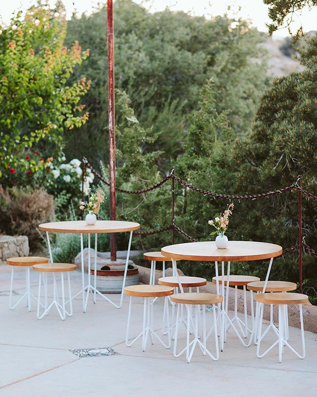 Another shot from the stunning @bashplease wedding featured in @martha_weddings. The cafe set in white (swipe left to see them in sage, turquoise, light blue and steel) - Planning + Design | Bash Please @bashplease Photography | Paige Jones @paigejonesphoto Florals | Moon Canyon @mooncanyon