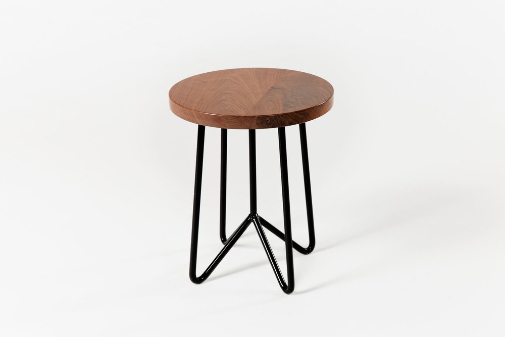 Yeah! Cafe Stool Walnut Black