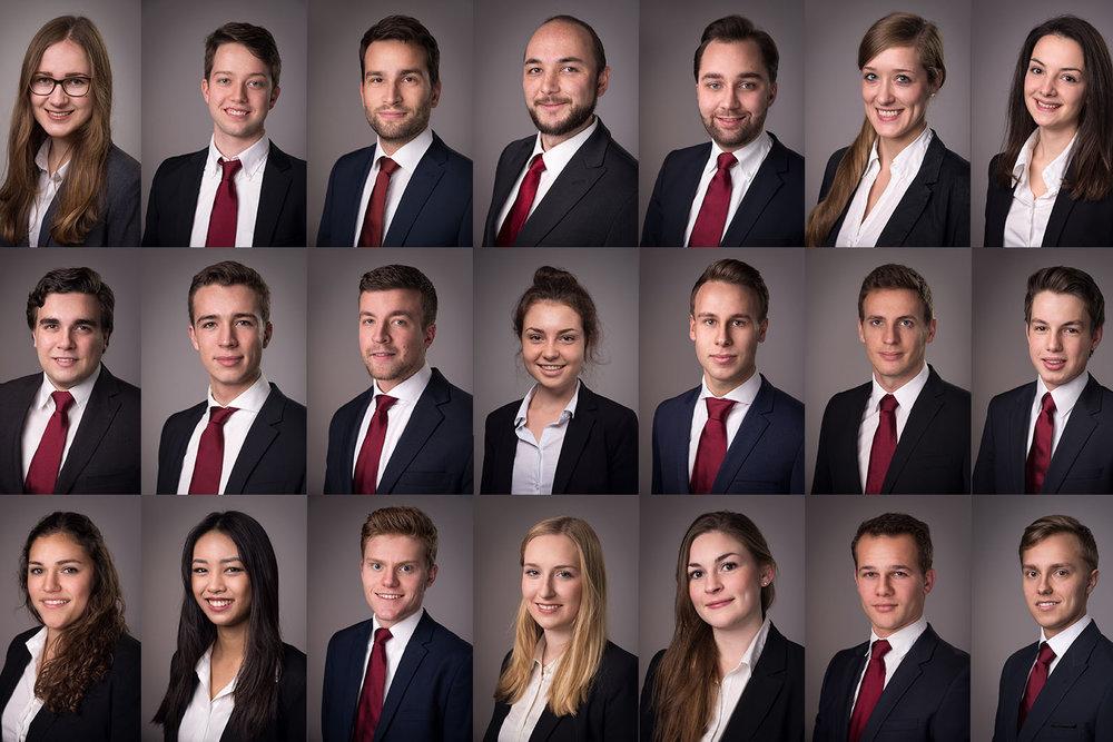 Mitarbeiterportraits in einer Unternehmensberatung